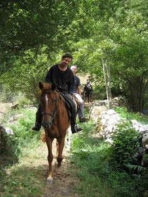 Promenades à cheval, randonnées à cheval Ariège Pyrénées
