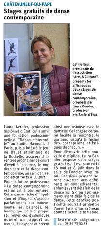 Article Vaucluse Matin du 14/05/19