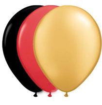 Latexballon Luftballon Ballon schwarz rot gold Fußball WM EM Party