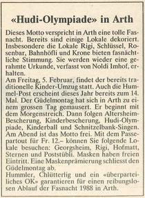 Rigi-Post vom Januar 1988