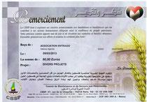 DONS POUR CBSP DE 90,00€