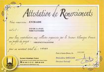 DONS POUR SECOURS ISLAMIQUES DE 1 157,62€