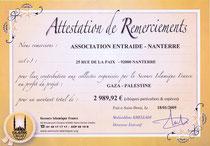 DONS POUR SECOURS ISLAMIQUES DE 2 989,92€