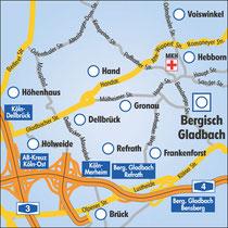 Anreise nach Bergisch Gladbach