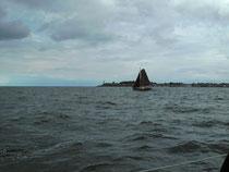 Segelschiff bei Starkwind
