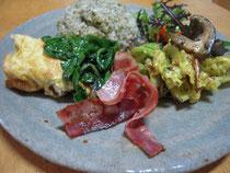 ルッコラと菊芋のオムレツレシピ