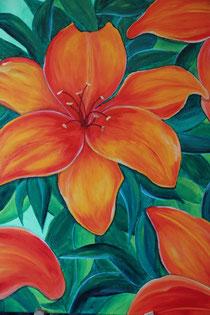 © Blüte, Acryl auf Leinwand, 80 x 60cm