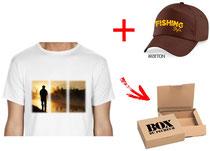 offrir t-shirt et casquette pêcheur