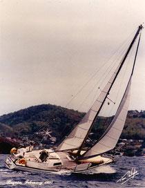 GANDALF Fugue 11 m sous Bequia Petites Antilles 1995