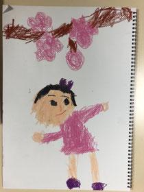 当教室の2才の子の作品