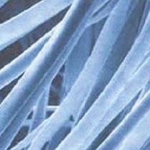 ウルトラマイクロファイバー繊維の拡大図