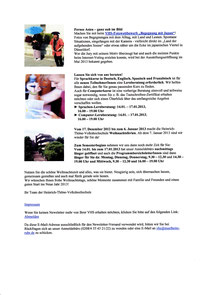 Newsletter VHS Mülheim