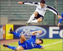 Auswärtstrikot Championsleague. Sponsor Indesit.