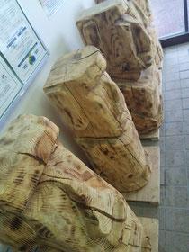 南三陸診療所のモアイ像