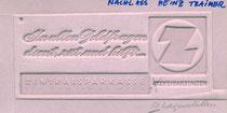 1960 (um) In allen Geldfragen berät und hilft Zentralsparkasse der Gemeinde Wien (50 Zweiganstalten). Zentralsparkasse , Heinz Traimer , 1963 (um) , Klischee