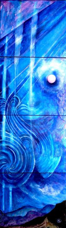 Blau je 50x60 Acryl 2010