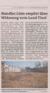 Bezirksblatt 13.12.2012