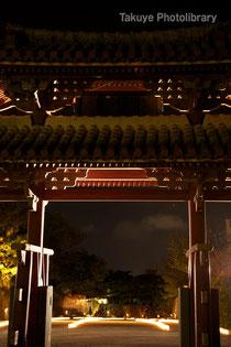 守礼門と灯火