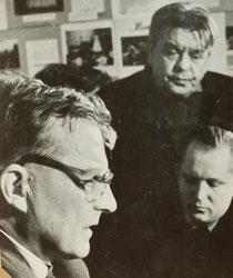 Дмитрий Шостакович и Николай Барсуков. Фото В.Бородина. Март 1965 года