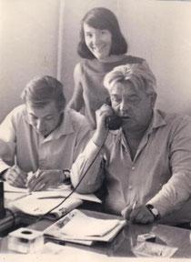 Евгений Филатов, Тамара Питерская, Николай Барсуков. 1966 год