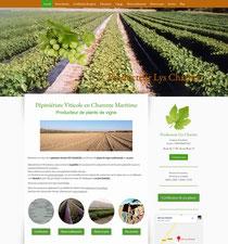 Pépiniere lys charrier site créé avec e-cime.fr création de site internet Poitou Charente