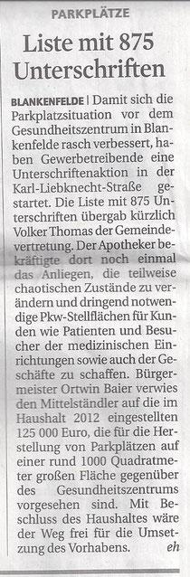 MAZ/Zossener Rundschau 6.3.2012