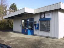 Garage A1, Frontsicht mit Werkstatt und Büro
