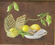 檸檬 油彩8号
