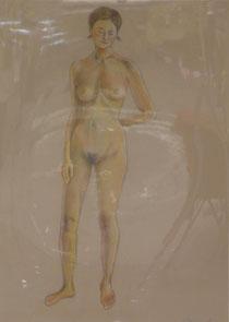 裸婦 パステル 15号