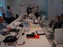Gute Arbeitsatmosphäre zu einem Workshop beim Kunden in der Schweiz, Phasenabschluß eines strategischen Einkaufsprojektes, welches wir über einige Monate begleitet haben. Juni2012