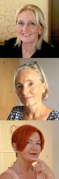Autorinnnen der Worträume am 14.11.2018 in der GEDOK Karlsruhe - Martina Bilke, Martine Lombard, Hedi Schulitz