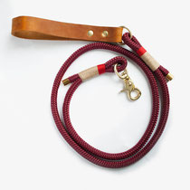 hundsoadli Tauleine rot beige modern mit Leder