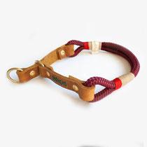 Halsband Tau und Leder Zug-Stopp handmade