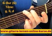 Gitarre online lernen: Gitarrengriff G-Dur