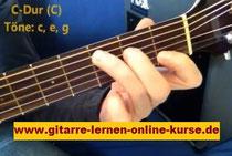 Gitarre lernen: Gitarrengriff C-Dur