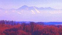 La chaîne des Pyrénées vue de Marciac