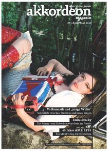"""Berich im """"akkordeon magazin"""" Nr. 73 (April/Mai 2020) über 40. Jubiläum von AME LYSS"""