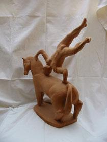 Acrobata con cavallo 2000