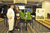 総料理長 丸岡修二さんとご一緒に。
