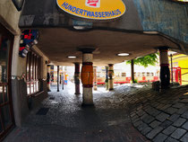 Hundertwasserhaus IV der Innenhof