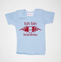Hier ein bedrucktes Babyshirt