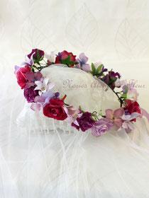 ロージー パープルのお花冠