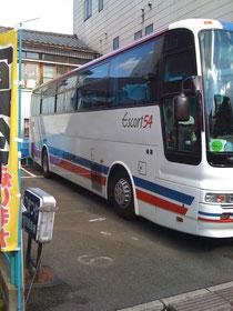 54人乗り大型観光バスも駐車可能です!
