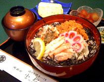 蟹丼各種<11月7日~3月末まで期間限定> 1,700円~(税別・お吸い物付)