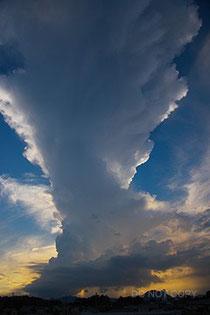 発達中の塔状積雲 阿久津静夫