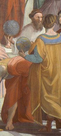 """sigismondo fanti ritratto nel dipinto """"la scuola di atene"""""""