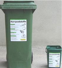 Biotonne, Biomüll, Bioabfall, grüne Tonne, braune Tonne