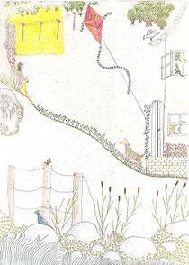Heile Welt - Zeichnung  Andrea