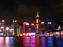 船から見た素晴らしい夜景