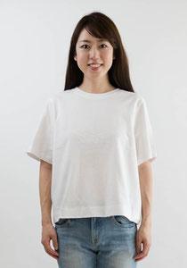 クロップドクルーネックTシャツ